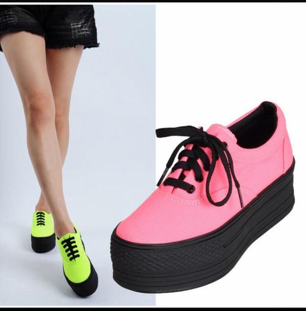 Platform Sneakers Shoes Pink