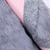 Pink Long Sleeve Contrast Rabbit Fur Woolen Coat - Sheinside.com