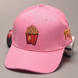 hat fries pink pink cap cap pastel