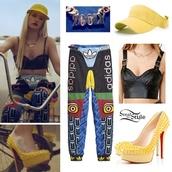 pants,iggy azalea,adidas,shirt,t-shirt,leggings,colorful leggings,swag