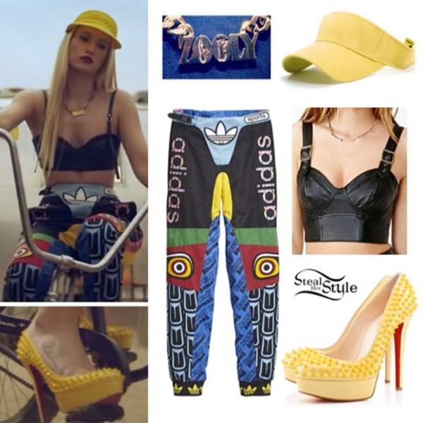 pants iggy azalea adidas shirt t-shirt leggings colorful leggings swag swag iggy azalea