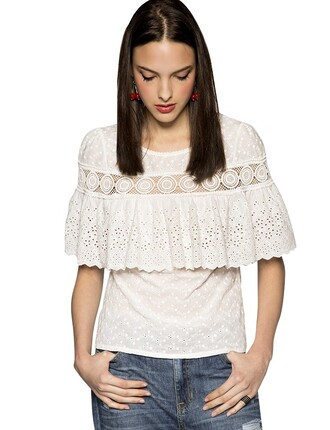 white lace top top lace top white top pixie market pixie market girl fall outfits pre fall transitional pieces back to school boho top boho fashion floral embroidery cute fall fashion