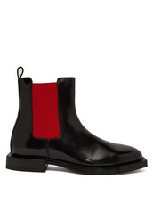 chelsea boots,leather,black,red,shoes