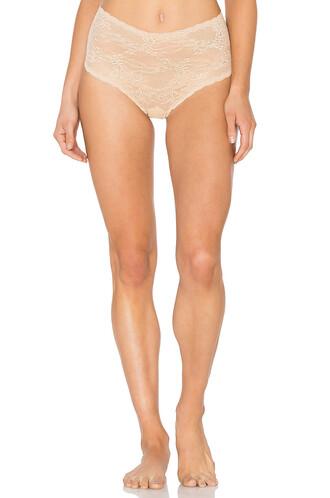 thong high beige underwear