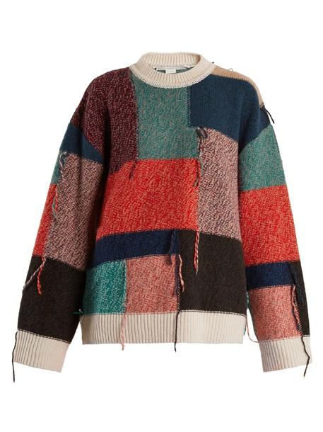 Stella McCartney sweater wool sweater patchwork wool knit