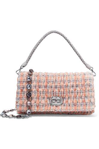 pastel embellished bag shoulder bag orange