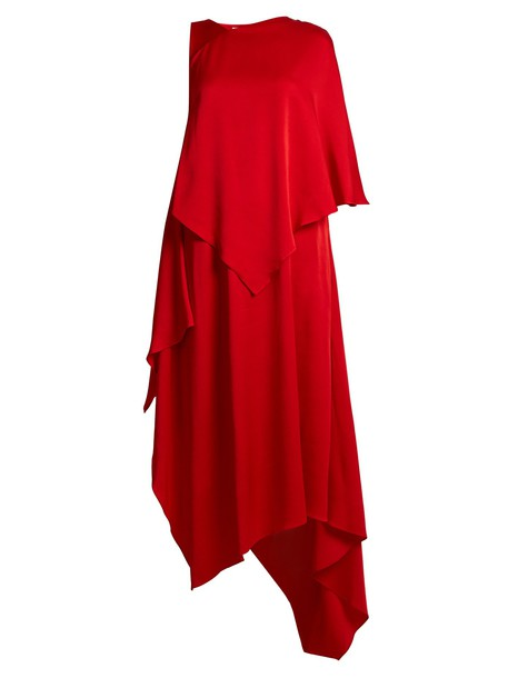 dress satin dress satin red