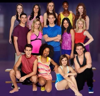 tank top the next step top workout clothes dance tv show danceing dancing yellow pink black grey orange blue purple green family channel disney channel