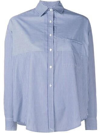 shirt long sleeve shirt long blue top