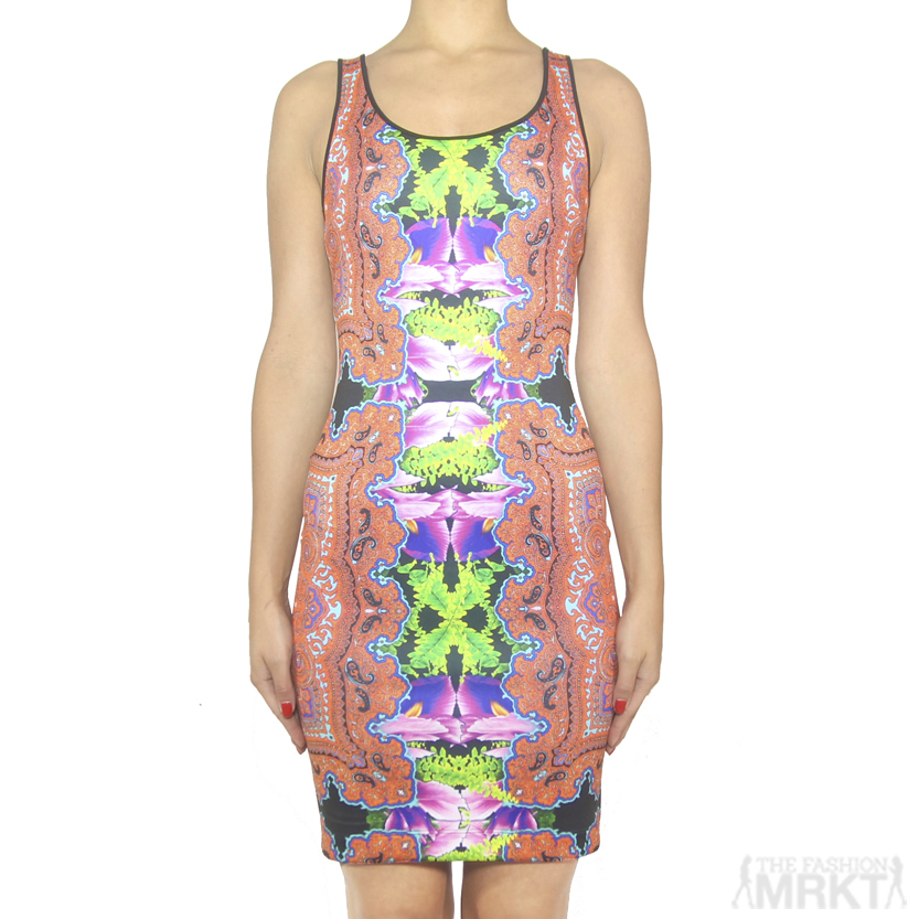 Clover Canyon Orchid Trip Pencil Neoprene Dress