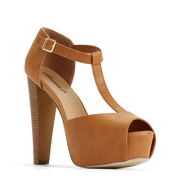 Strap platform heels