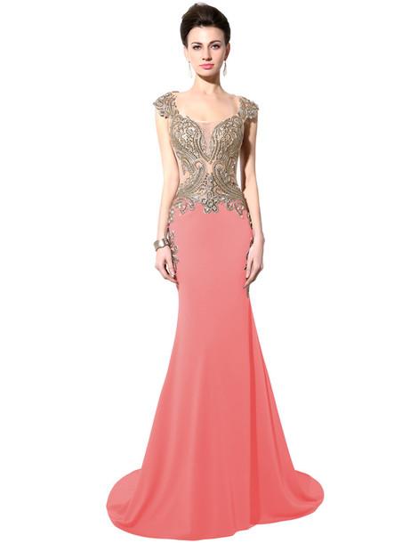 dress, red dress, maxi dress, prom gown, prom dress, mermaid prom ...