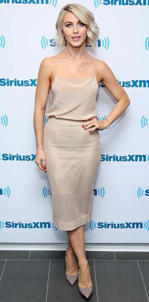 skirt pencil skirt top nude julianne hough