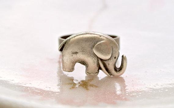 Antique silver elephant ringlucky elephant by iceblues on etsy