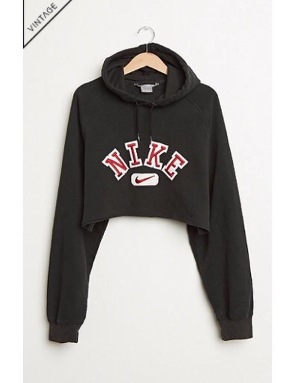 Sweater: sweatshirt, hoodie, nike, vintage, vintage pullover, crop ...