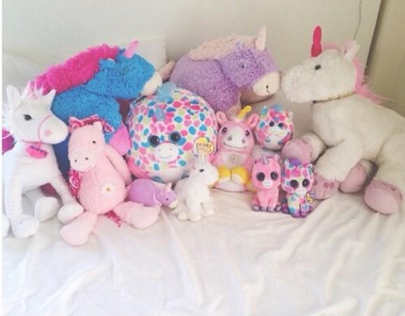 unicorn hair accessories teddy andrea russett youtuber teddy bear stuffed animal