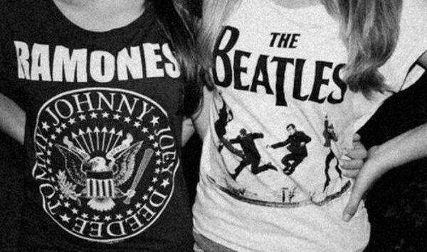t-shirt shirt band t-shirt ramones the beatles