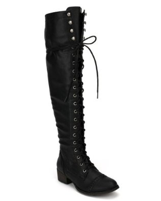 Amazon.com: Breckelles Women's Alabama-12 Knee High Riding Boots: Knee High Combat Boots: Clothing