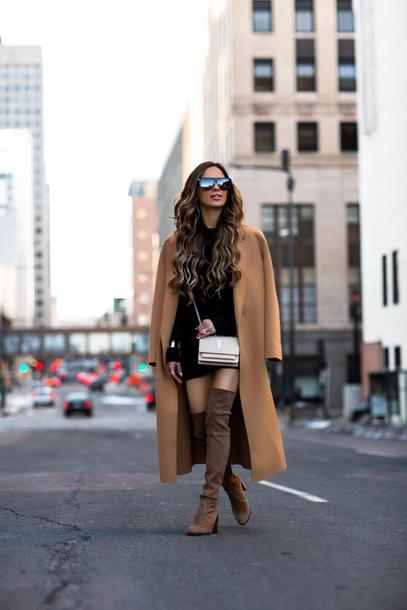 a9a3934d9200 maria vizuete mia mia mine blogger bag shoes sweater jewels belt beige coat  boots over the