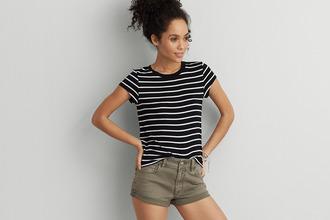 tights striped top stripes black white stripes top black top t-shirt