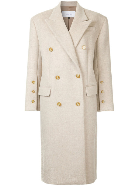 Le Ciel Bleu coat double breasted long women nude wool