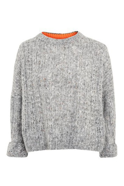 Topshop jumper soft grey sweater