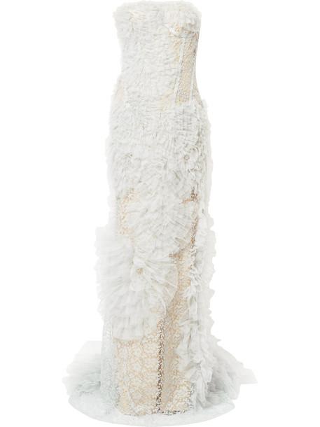 Ermanno Scervino dress lace dress women lace grey