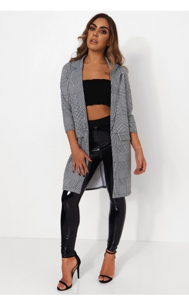 Houndstooth Oversized Jacket - from The Fashion Bible UK