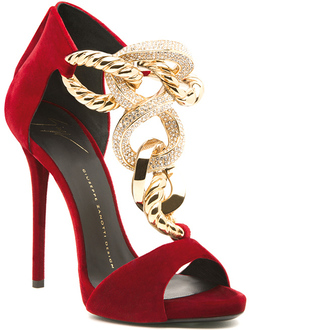 shoes red velvet sandals guiseppe zanotti