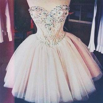 dress prom short dress short light pink gems see through jewels