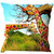 Giraffe Printed Cushion Cover - HandiCrunch.com