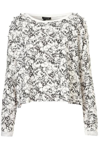 skull skull sweater white pattern