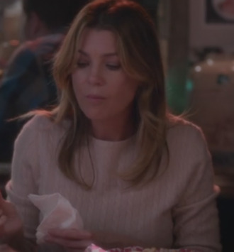 dr. meredith grey ellen pompeo grey's anatomy sweater