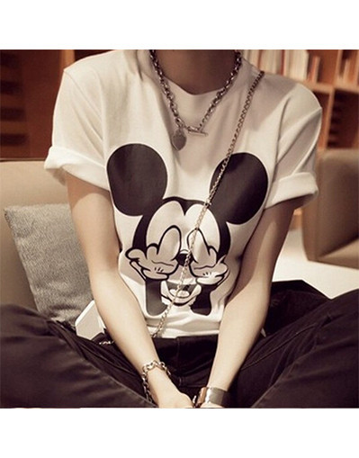 2 colors middle finger mickey mouse tank crop top