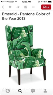 home accessory,chair,palm tree print,tropical,beach house
