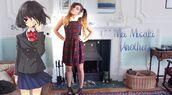dress,overalls,skirt,plaid,tartan,shirt,ruffle,peter pan collar,collar,white,red,green,pretty,marzia,cute,lovely,lolita,anime,japanese,japan