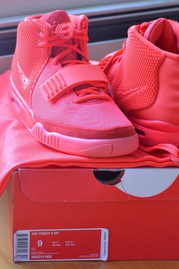 shoes yeezy red sneakers red shoes
