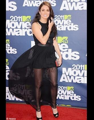 nikki reed mtv movie awards black skirt skirt