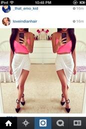 dress,pink dress,pink,cute dress,2pieces,crop 2piece lace white dress
