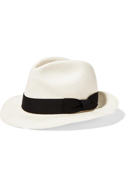 Sensi Studio Classic Toquilla Straw Panama Hat in white