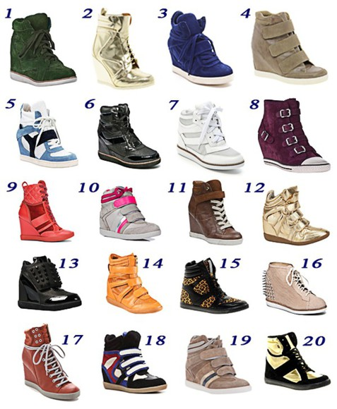 colorful sneakers wedges