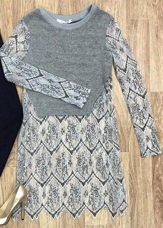 blouse tunic wool lace women