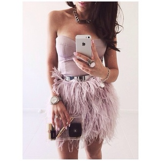 dress silver belt pink dress corset top fringed dress skirt