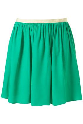 Green flippy skirt