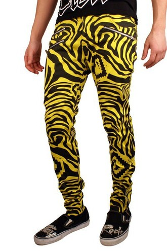 pants zebra zebra stripe printed pants