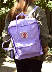 bag,pastel,violet,fjallraven kanken,backpack,purple