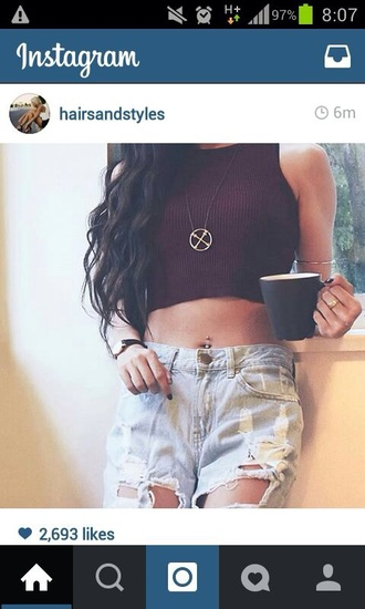 blouse be top crop tops wine wine red t-shirt style shirt tank top red beautiful instagram