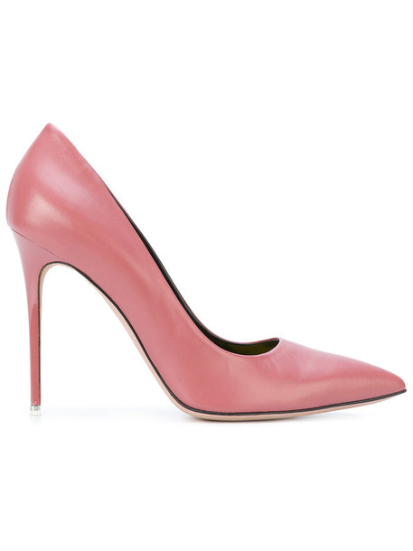 Francesca Mambrini heel women pumps leather purple pink shoes