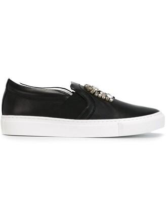 embellished sneakers black shoes