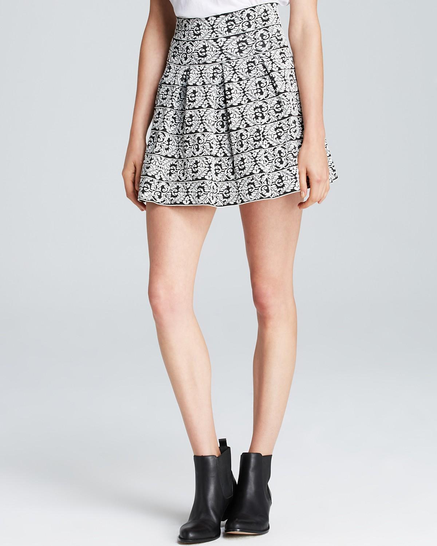 AQUA Skirt - Vine Pattern Full | Bloomingdale's